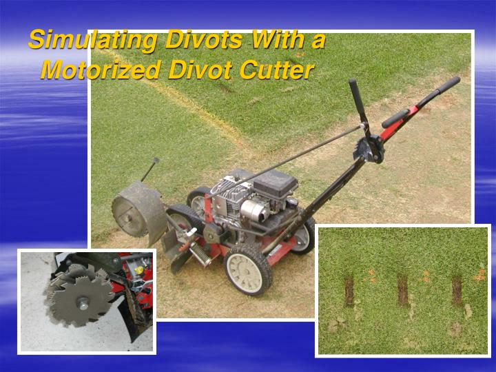 Simulating Divots With a Motorized Divot Cutter
