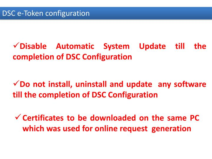 Disable Automatic System Update till the completion of DSC Configuration