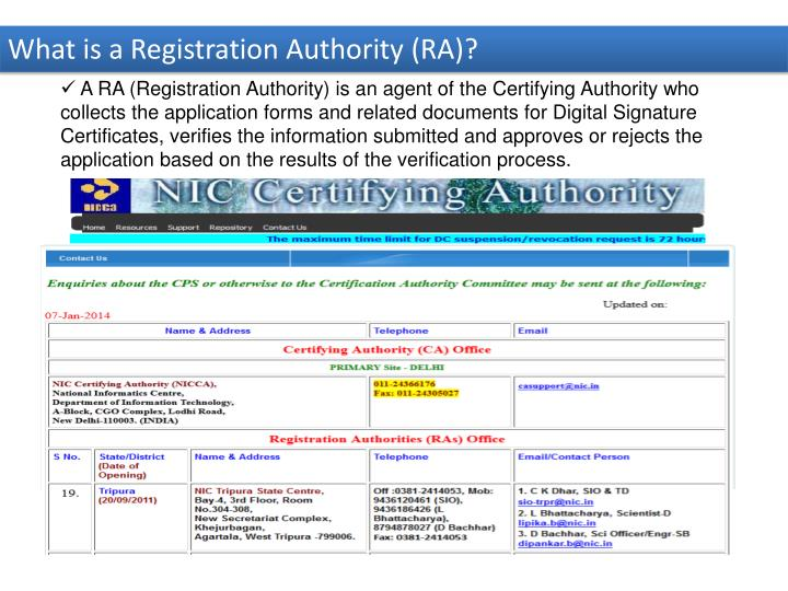 What is a Registration Authority (RA)?
