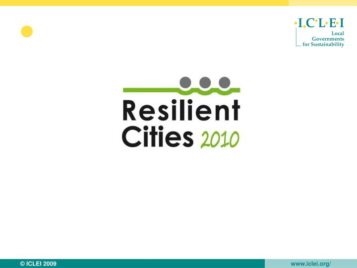 Resilient cities 2010 in numbers