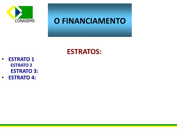 O FINANCIAMENTO