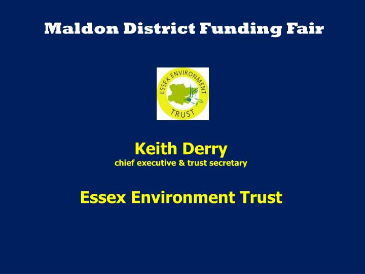 Maldon District Funding Fair