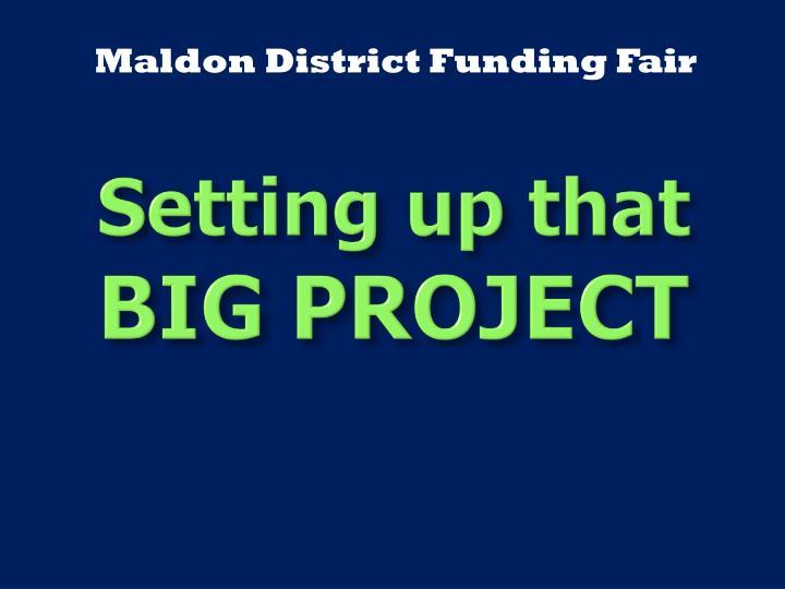 Maldon District Funding Fair