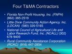 four t ma contractors
