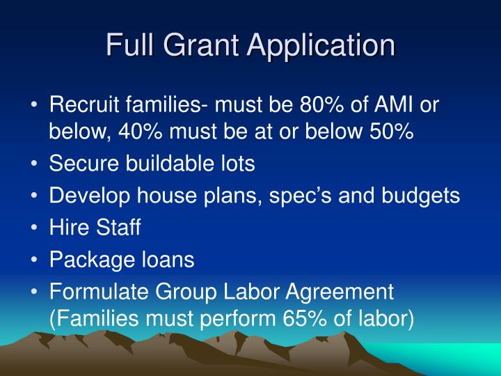 Full Grant Application