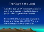 the grant the loan