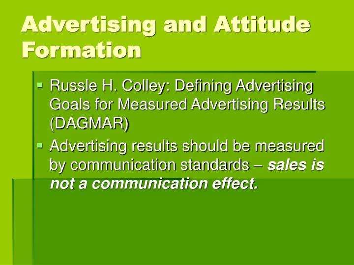 Advertising and Attitude Formation