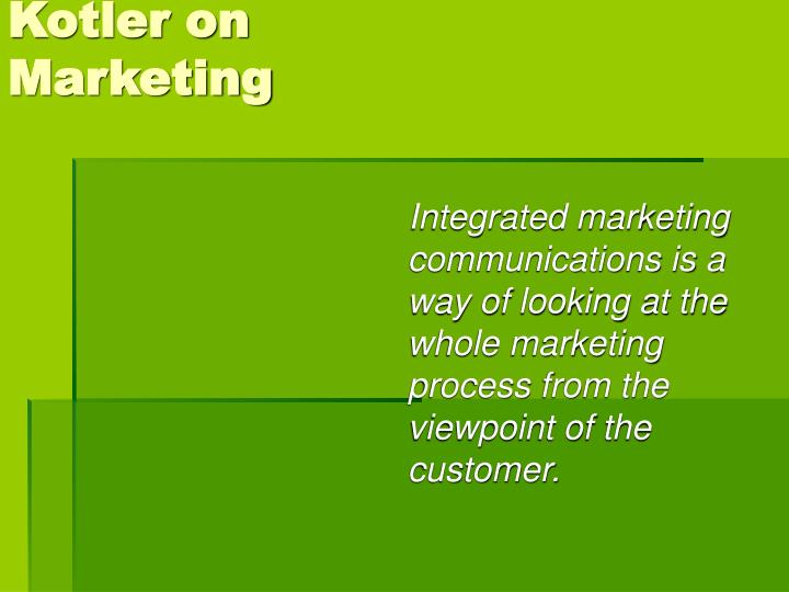 Kotler on marketing