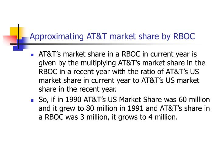 Approximating AT&T market share by RBOC