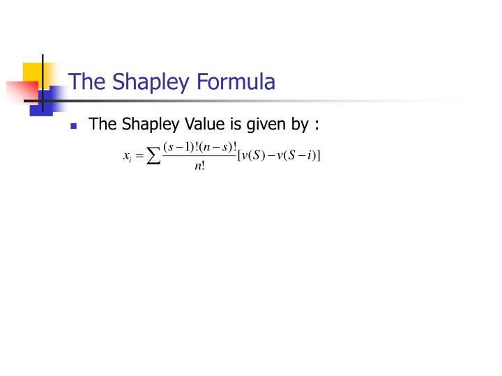 The Shapley Formula
