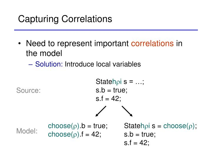 Capturing Correlations