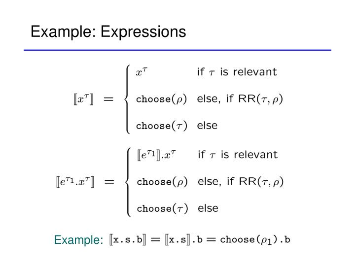 Example: Expressions