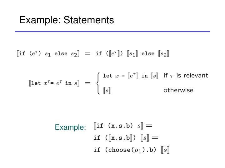Example: Statements