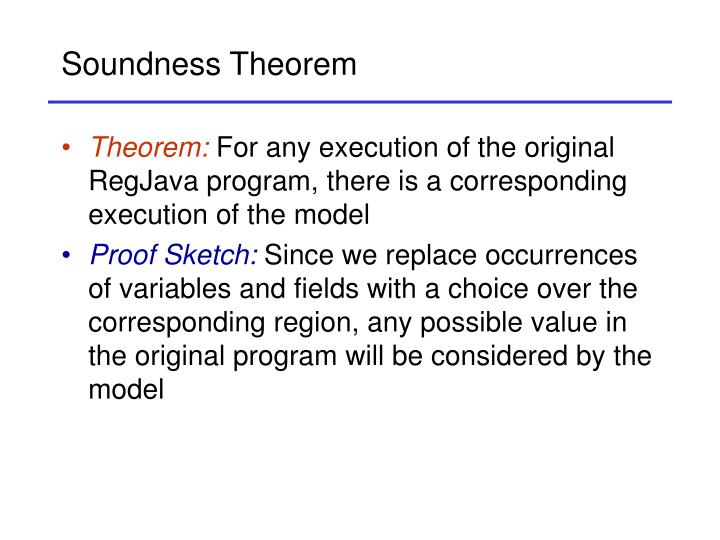 Soundness Theorem