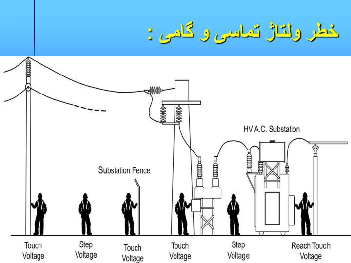 خطر ولتاژ تماسی و گامی :