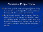 aboriginal people today