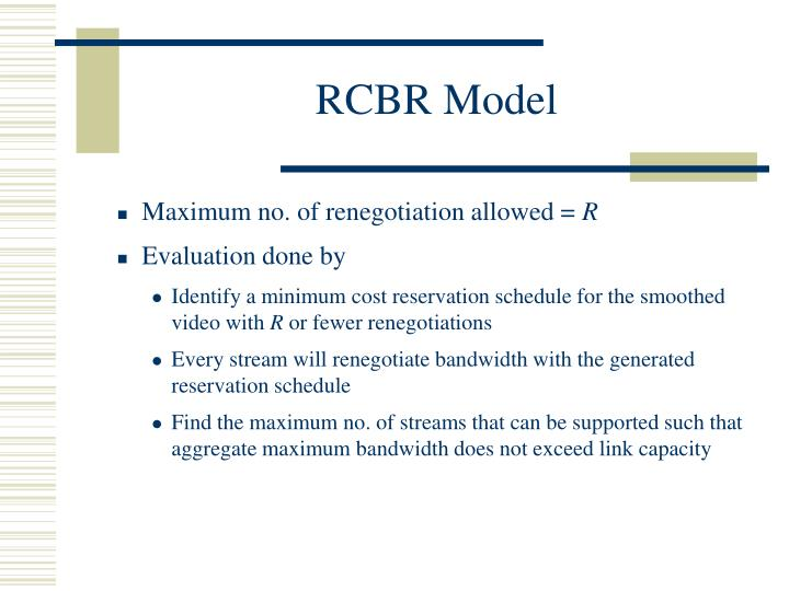 RCBR Model