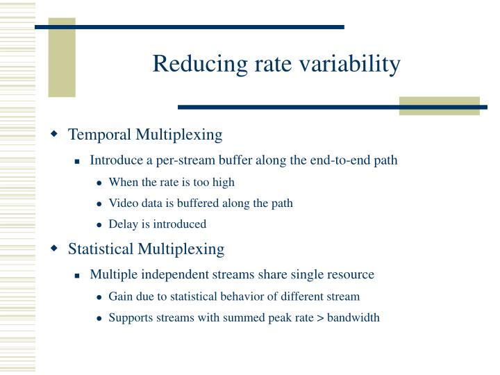 Reducing rate variability