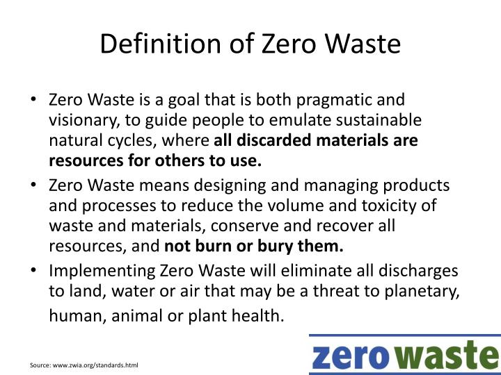 Definition of Zero Waste