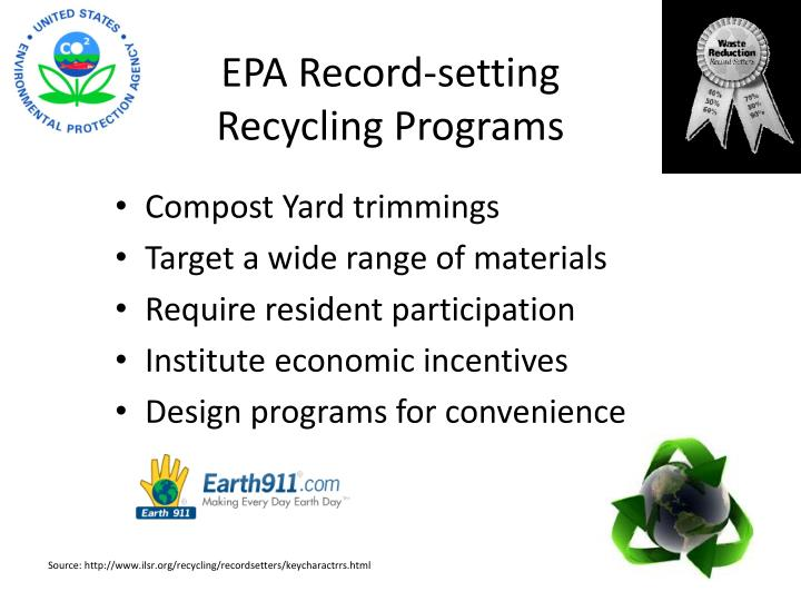 EPA Record-setting Recycling Programs
