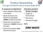 product stewardship through extended producer responsibility epr