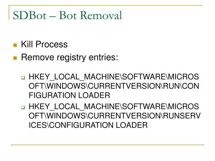 SDBot – Bot Removal
