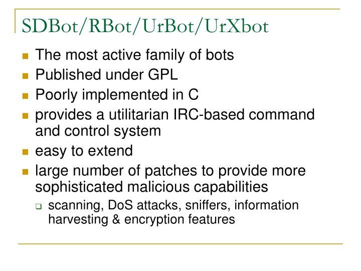 SDBot/RBot/UrBot/UrXbot