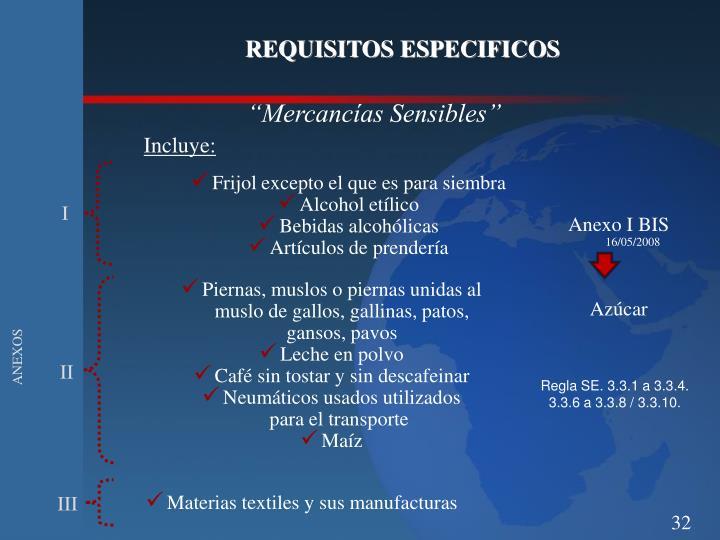 REQUISITOS ESPECIFICOS