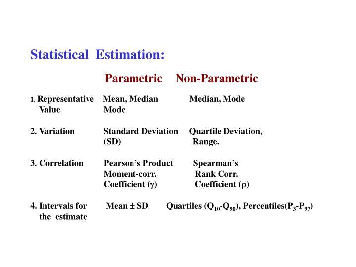 Statistical  Estimation: