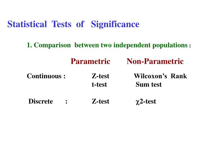 Statistical  Tests  of   Significance