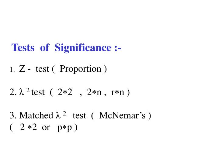 Tests  of  Significance :-