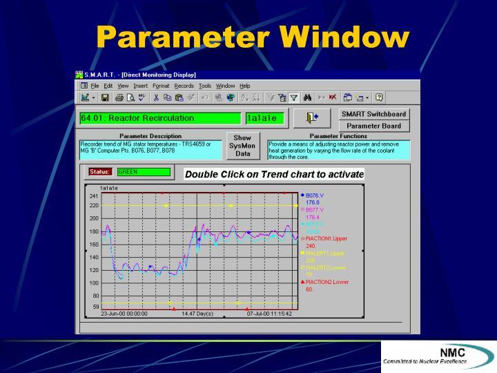 Parameter Window