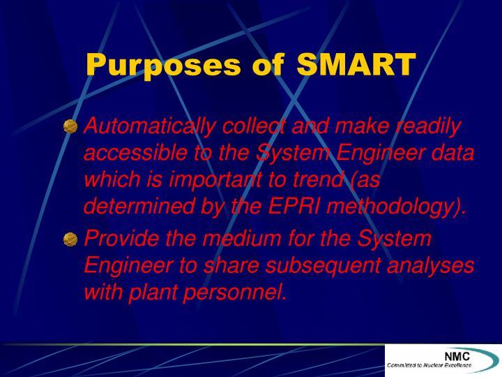 Purposes of SMART