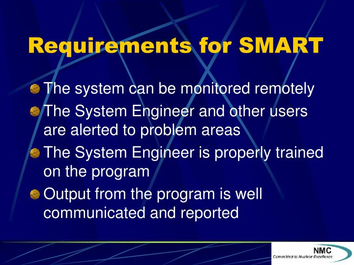Requirements for SMART