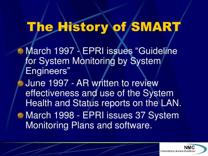 The History of SMART
