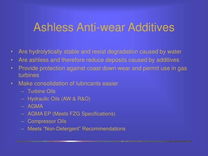 Ashless Anti-wear Additives