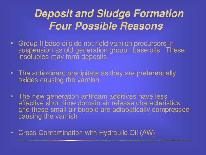 Deposit and Sludge Formation