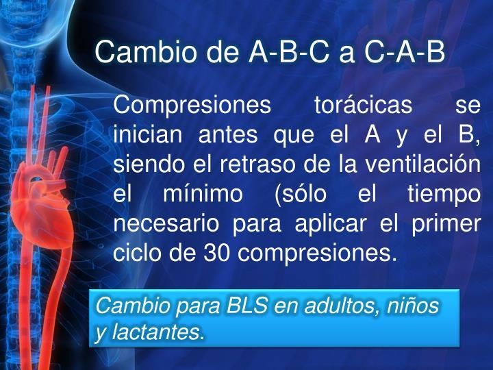 Cambio de A-B-C a C-A-B