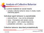 analysis of collective behavior