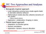 dc two approaches and analyses