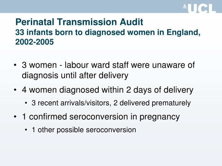 Perinatal Transmission Audit