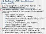 1 2 evaluation of physical biological impact cont d