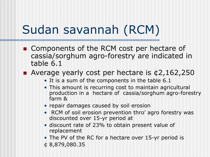 Sudan savannah (RCM)