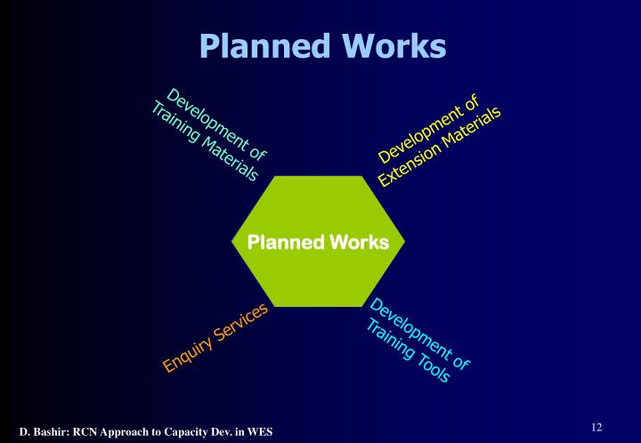 Planned Works