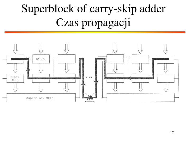 Superblock of carry-skip adder