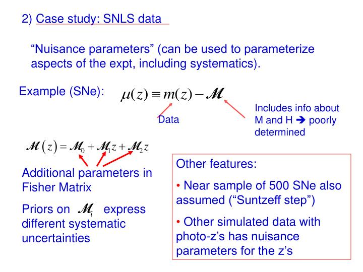 2) Case study: SNLS data