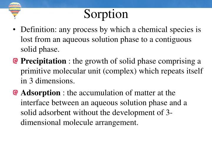 Sorption