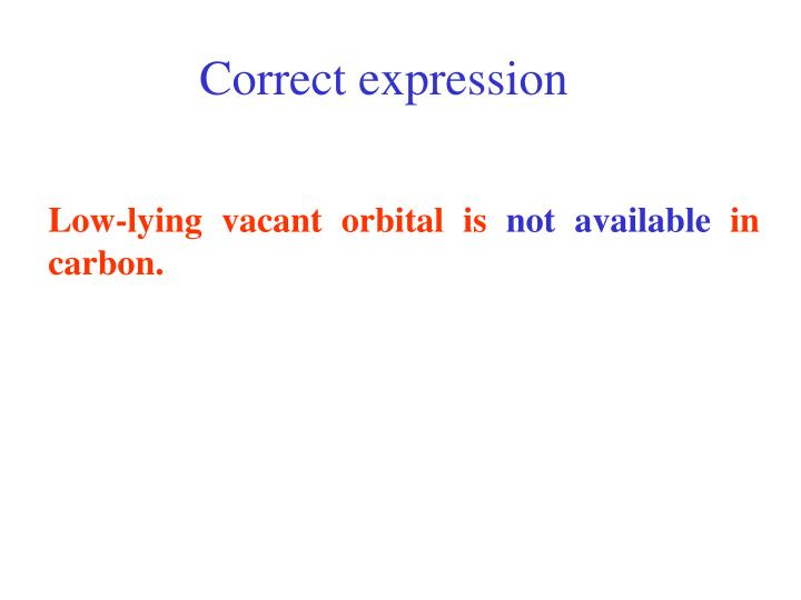 Correct expression