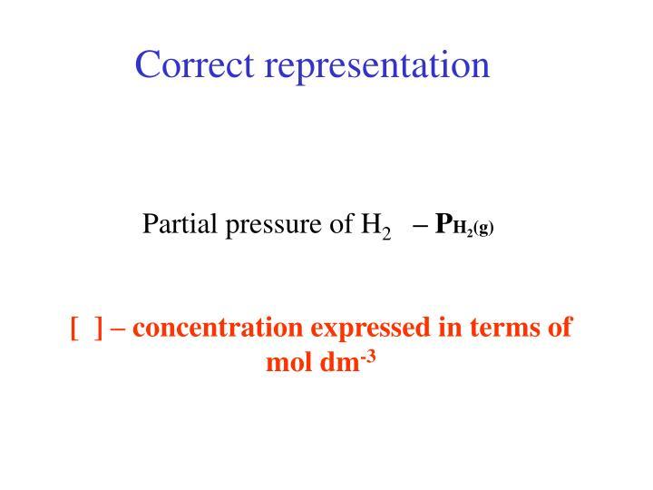 Correct representation