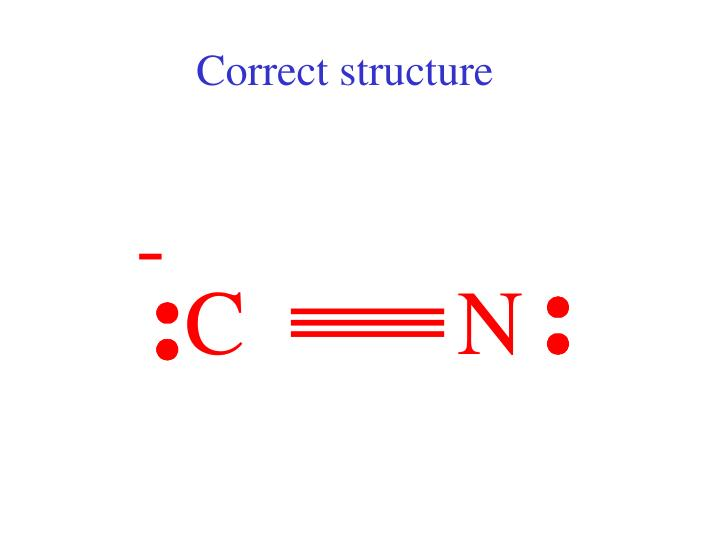 Correct structure